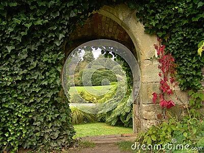 Old archway in garden