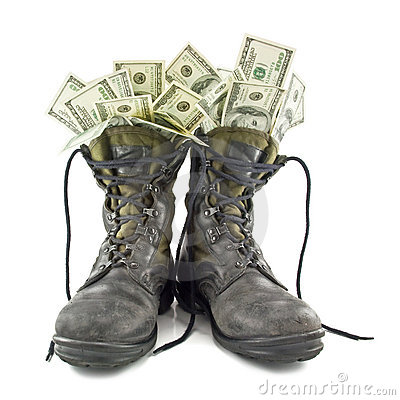 Free Old Army Boots Royalty Free Stock Photos - 17448388