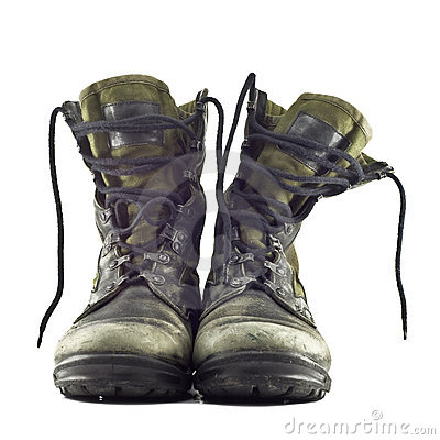 Free Old Army Boots Stock Photos - 18497623