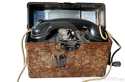 Old army portable phone