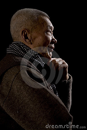 Old Asia Man