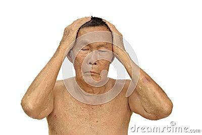 An old asian man