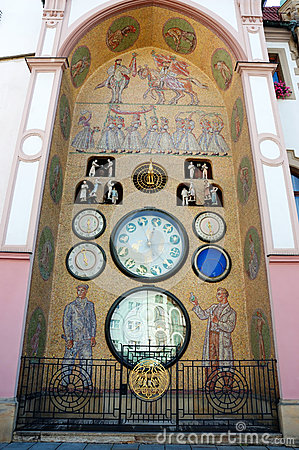 Old astronomical clock in Olomouc, Czech Republic