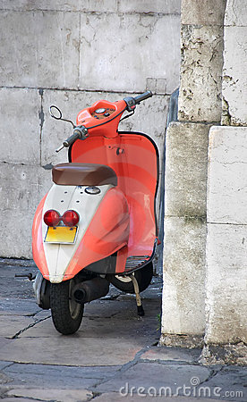 Old attractive Vespa