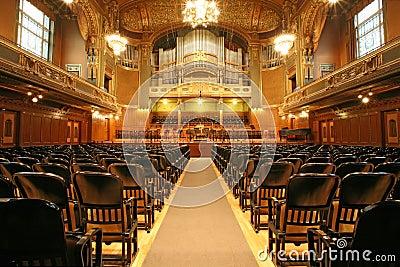 Old auditorium with organ