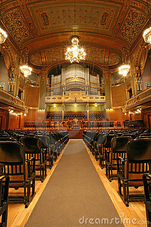 Free Old Auditorium With Organ Stock Photos - 2862183