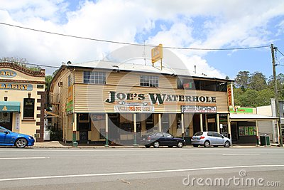 Australia, Queensland: Old Hotel and Pub Editorial Stock Photo