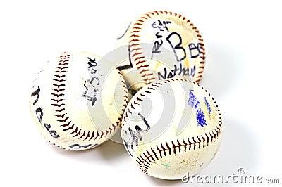 Old Autographed Baseballs
