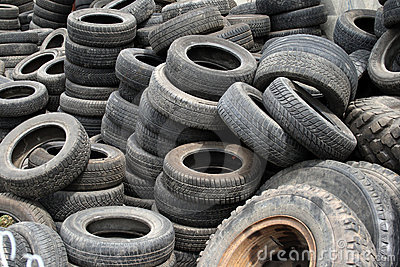 Old automobile tires