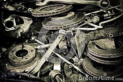 Old automotive parts