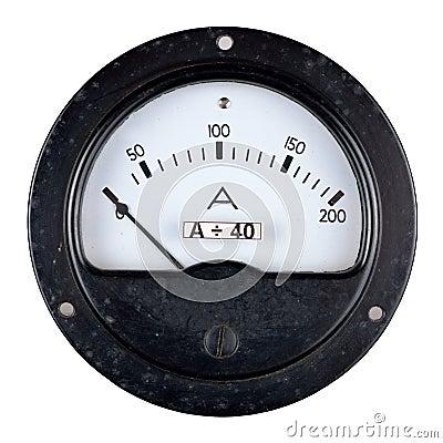 Old bakelite case ammeter
