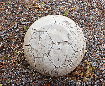 Old ball on the ground