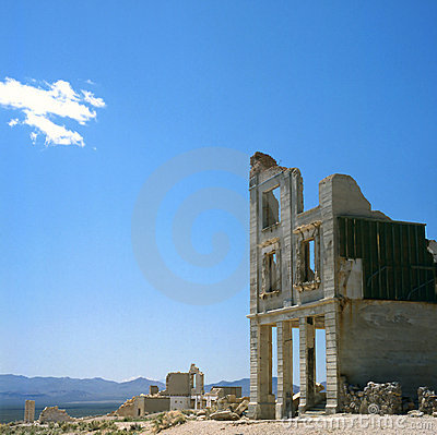 Free Old Bank Building In Ghost Town Royalty Free Stock Images - 2053309