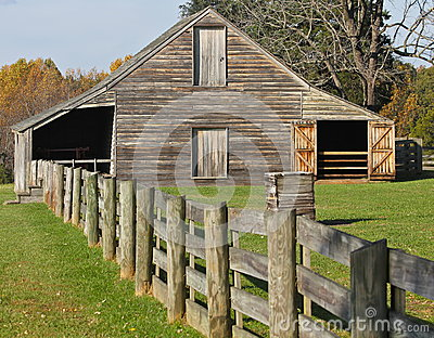Old Barn in Appomattox, Virginia