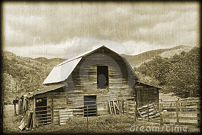 Old Barn Sepia