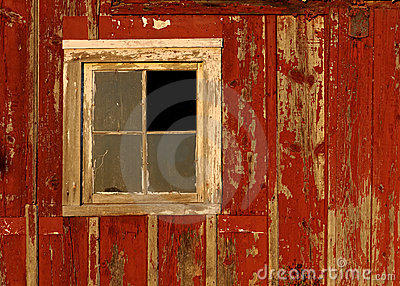 Old Barn Window On Red Wall Stock Images Image 20835894