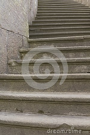 Old baroque stone steps