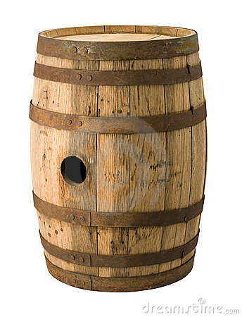 Old Barrel with a clipping path