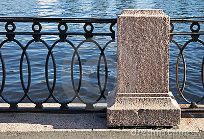 Old barrier on the Neva Rive