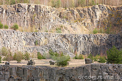 Old basalt quarry