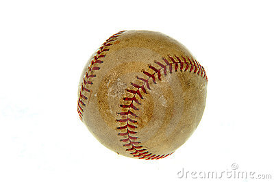 Old baseball ball