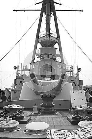 Free Old Battleship Royalty Free Stock Photography - 43301797