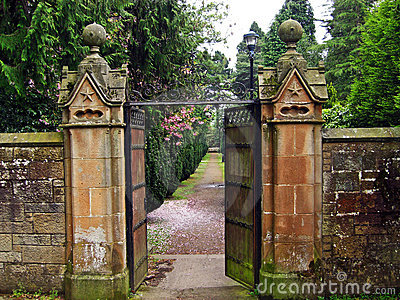 Old, beautiful gate leading to the garden