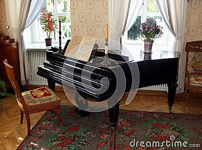 Old beautiful piano