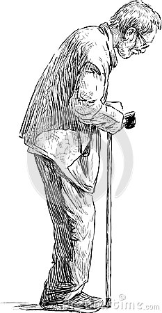Old Beggar Stock Photo Image 45347220
