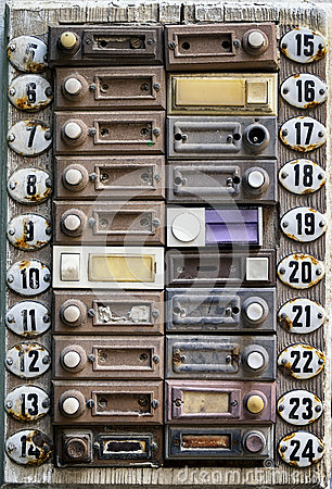 Free Old Bell Buttons Royalty Free Stock Photos - 38914758