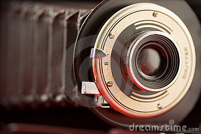 Old bellows camera