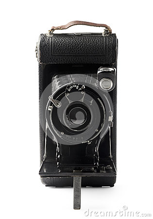 Free Old Bellows Photo Camera Stock Photography - 44673622