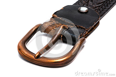 Old belt with copper buckle