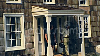 Old Bethpage Village Restoration. OLD BETHPAGE, NEW YORK - circa 1970: Old Bethpage Village Restoration, living history museum about Long Island life during 19th stock video