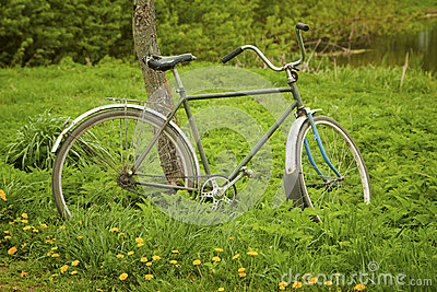Old Bicycle Royalty Free Stock Photos - Image: 25411338