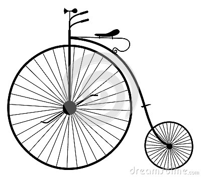 Old Bicycle Illustration Stock Images - Image: 30988844