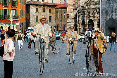 Old bicycles Editorial Stock Photo