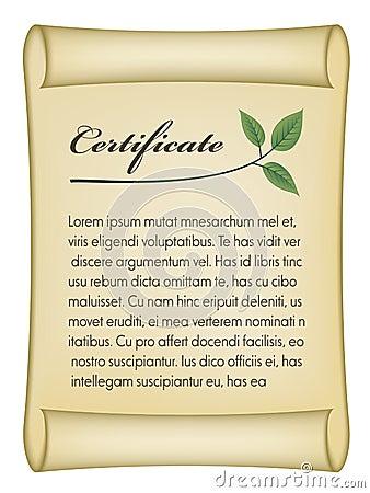 Old bio certificate