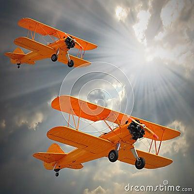Old Biplanes.