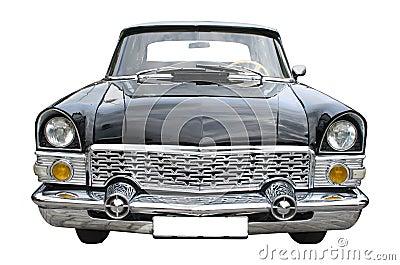 Old black limousine