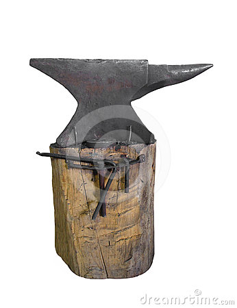 Old blacksmith anvil isolated