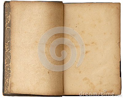 Old Blank Open Book