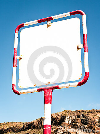Old blank sign