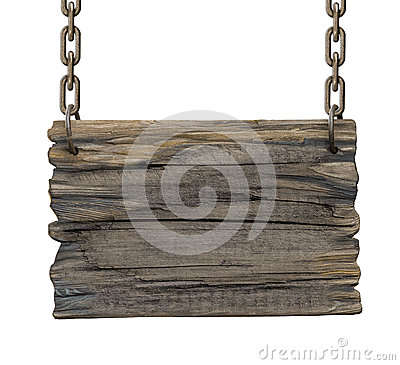 Free Old Blank Tavern Medieval Wooden Signboard Royalty Free Stock Photo - 43857545