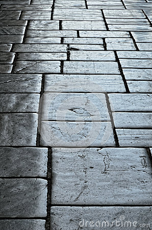 Old block pavement of Granada