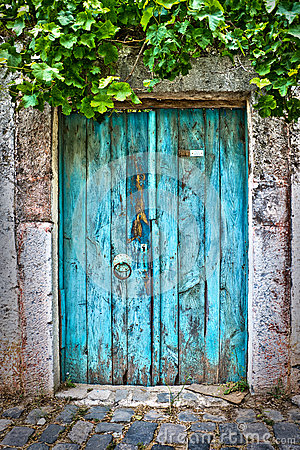 Free Old Blue Door Royalty Free Stock Images - 56689409