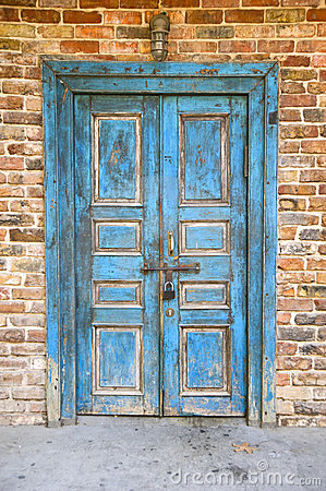 Free Old Blue Door Royalty Free Stock Photos - 5839798