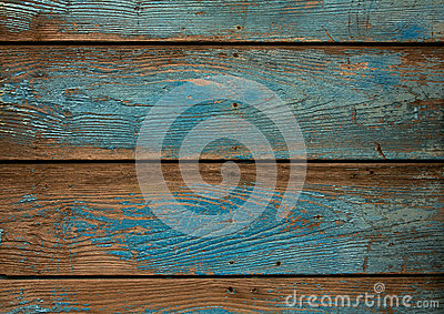 Old blue grunge wooden background
