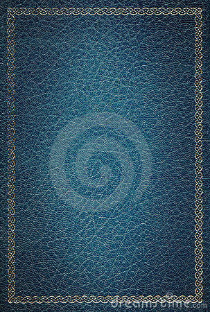 Free Old Blue Leather Texture Gold Frame Stock Images - 3779704
