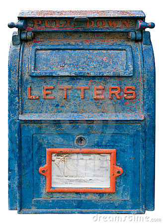 Free Old Blue Mailbox Stock Images - 20672544
